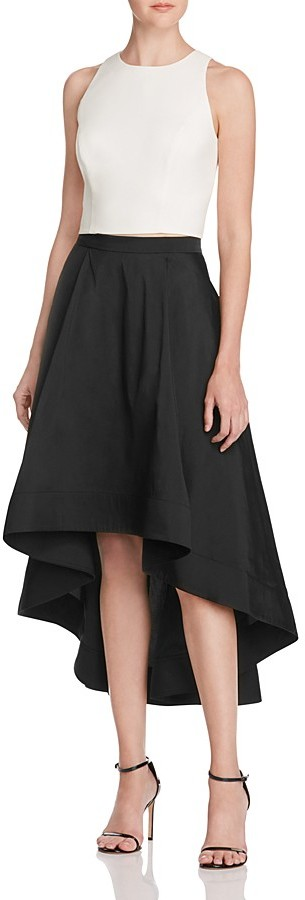 Aidan Mattox Two Piece High/Low Dress