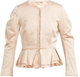 Brock Collection Orth Peplum Hammered-twill Jacket - Womens - Pink