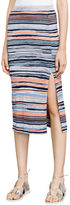 BCBGMAXAZRIA Emery Striped Midi Skirt