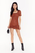 Nasty Gal Womens Caught Me in It's Spotlight Ruched Mini Dress - orange - 10, Orange