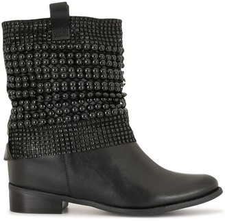 Schutz Bead-Embellished Ankle Boots