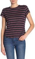 Frame Stripe Linen Short Sleeve T-Shirt