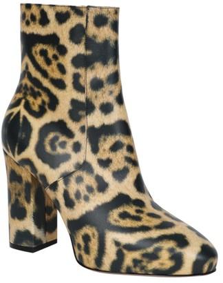 Dries Van Noten Leopard Print Leather Booties