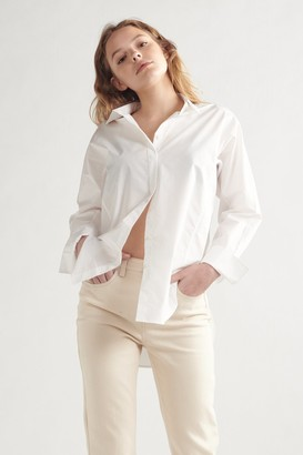 Thakoon Oversized Poplin Shirt White