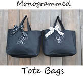 Etsy 9 Bridesmaid Tote Bags, Monogrammed Gift, Embroidered Tote, Monogrammed Tote, Bridal Party Gift, Wed