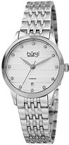 Burgi Women's BUR146SS Silver Quartz Watch With Diamond Dial And Silver Bracelet