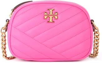 Tory Burch Kira Small Chevron Shoulder Bag In Fuchsia Quilted Leather