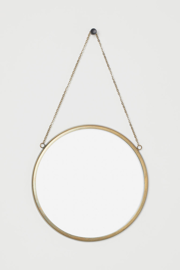 H&M - Round Wall Mirror - Gold