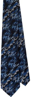 Prada Jacquard Camouflage Silk Tie