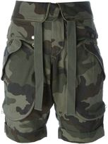 Faith Connexion camouflage print cargo shorts