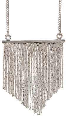 Jules Smith Designs Silver Tone Bar Fringe Necklace