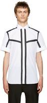 Neil Barrett White & Black Poplin Striped Shirt