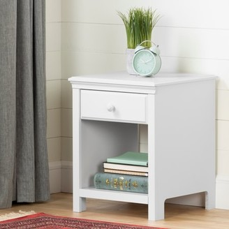 South Shore Cotton Candy 1-Drawer Nightstand, White