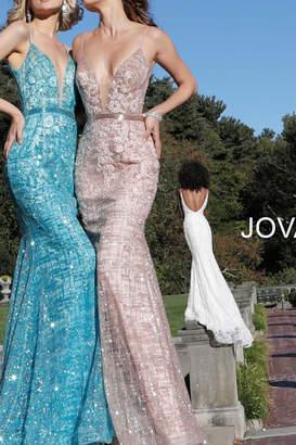 Jovani Plunging Neckline Gown