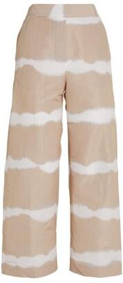 Piazza Sempione Tie-Dye Print Cropped Trousers