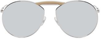 Fendi Silver Gentle Monster Edition Aviator Sunglasses
