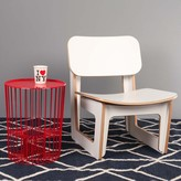 Fab Drum Side Table Red