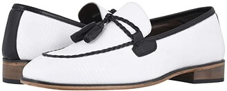 Stacy Adams Bianchi Tassel Slip-On (White/Black) Men's Shoes