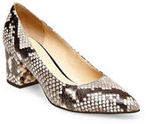 Brian Atwood Kacie Snake-Print Leather Pumps