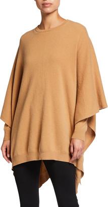 Halston Kelly Wool-Cashmere Poncho Sweater