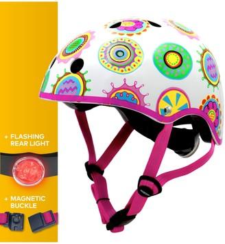 Micro Deluxe Scooter Helmet, Doodle Pattern, Medium