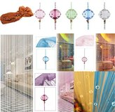 Wabrina 1x2 M Fashion Decoration Beaded String Curtain Door Divider Crystal Beads Tassel Screen Curtain Beads Panel for Wedding Coffee House Restaurant Parts, Silver