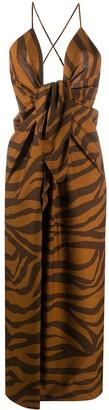 Mara Hoffman Lolita zebra-print dress