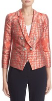 Armani Collezioni Women's Basket Jacquard Double Breasted Jacket