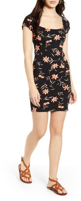 Billabong Girl Crush Floral Print Mini Dress
