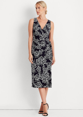 Ralph Lauren Floral Jersey Surplice Dress