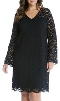 Karen Kane Plus Size Women's Lace A-Line Dress