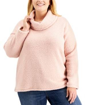 Style&Co. Style & Co Plus Size Fleece Cowlneck Sweater, Created for Macy's