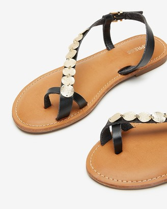 Express Toe Loop Coin Sandals
