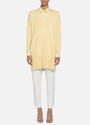 St. John Cashmere High Side Slit Sweater