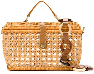 Serpui Marie Wicker Box Bag