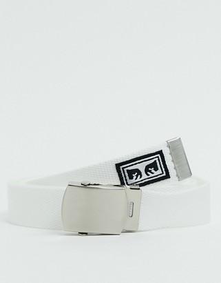 Obey Big Boy web belt in white