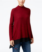 Style&Co. Style & Co. Petite Chiffon-Hem Mock-Neck Top, Only at Macy's