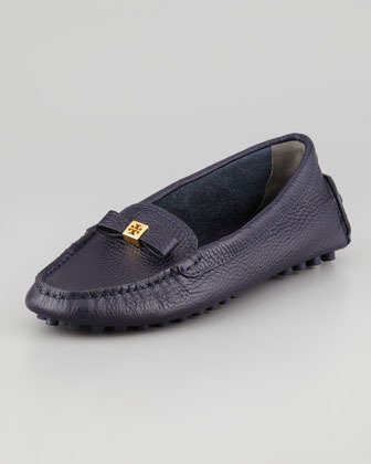 Tory Burch Ludlow Leather Driver, Navy
