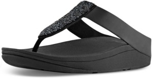 FitFlop Women's Sparklie Crystal Toe Post Sandal Women's Shoes