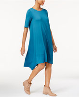 Eileen Fisher Stretch Jersey Asymmetrical Dress, Regular & Petite
