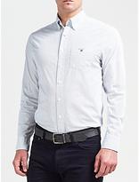 Gant Printed Broadcloth Dot Shirt, White