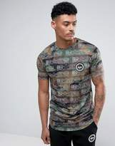 Hype T-Shirt In Camo With Japanese Print