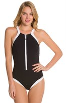 Seafolly Block Party High Neck Maillot One Piece Swimsuit 8122077