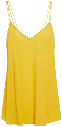 BA&SH Picot-trimmed Crepe Camisole