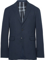 Burberry Blue Slim-Fit Woven Blazer