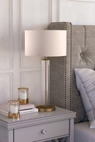 clear Harlow Brass and Glass Table Lamp