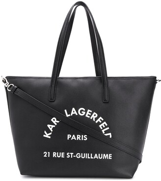Karl Lagerfeld Paris Logo Tote Bag