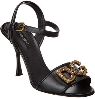 Dolce & Gabbana Amore Leather Sandal