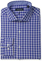 Nautica Men's Check Cutaway Collar Dress Shirt