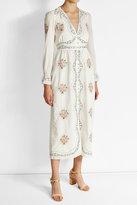 Vilshenko Floral Print Cotton Midi Dress